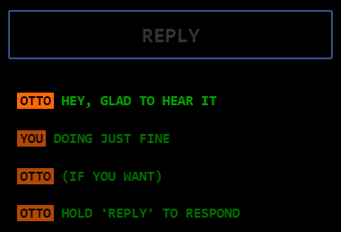 Screenshot of chat sidebar with the reply mechanic enabled